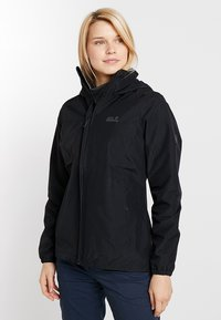 Jack Wolfskin - STORMY POINT JACKET  - Kurtka Outdoor - black - 0