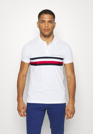 GLOBAL CHEST TAPE SLIM - Poloshirts - white