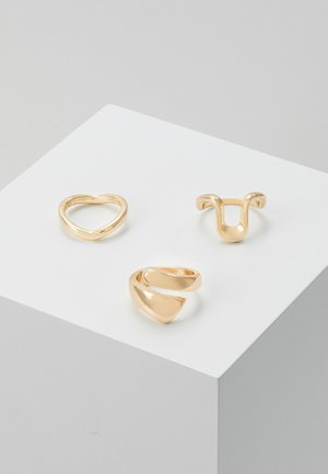 PCFORYNA 3 PACK - Ringar - gold-colour