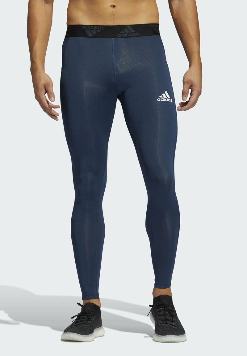adidas Performance - TECHFIT 3-STRIPES LONG TIGHTS - Collants - blue