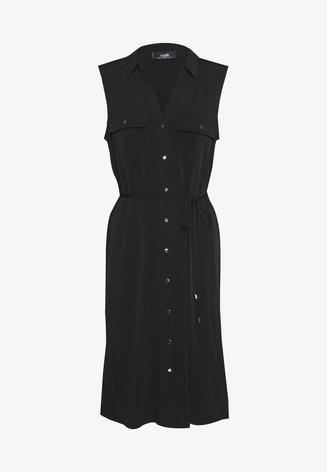 BUTTON POCKET DRESS - Trikoomekko - black