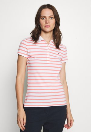 SHORT SLEEVE SLIM STRIPE - Poloshirts - breton/white