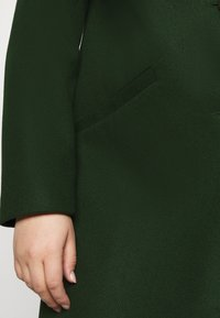 Dorothy Perkins Curve - MINIMAL SHAWL COLLARCROMBIE COAT - Short coat - green - 5