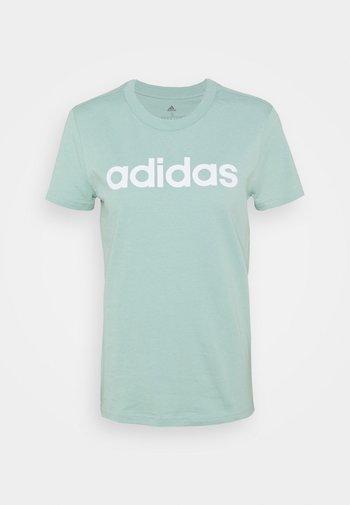 Print T-shirt - hazy green/white