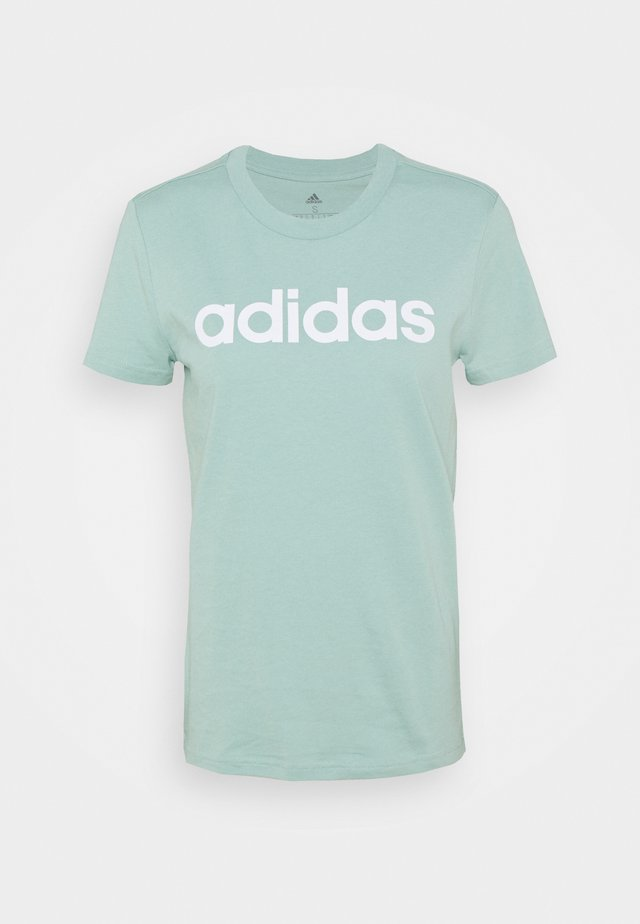 T-shirt print - hazy green/white