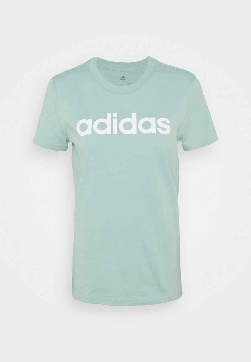 adidas Performance - Camiseta estampada - hazy green/white