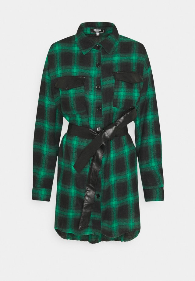 BELTED DRESS - Abito a camicia - green