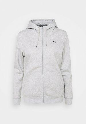 SMALL LOGO FULL ZIP HOODIE - Zip-up sweatshirt - light gray heather