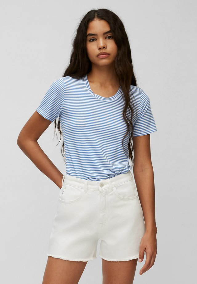 T-shirt print - multi/intense blue