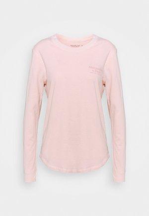 LONGSLEEVE PRINT LOGO TEE - Top sdlouhým rukávem - pink