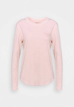 LONGSLEEVE PRINT LOGO TEE - Camiseta de manga larga - pink