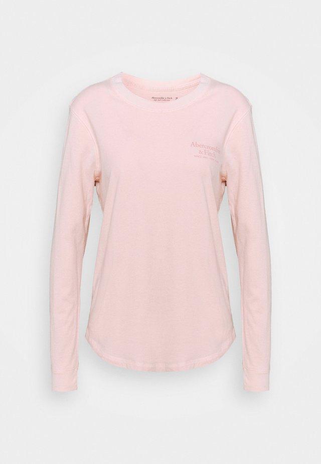 LONGSLEEVE PRINT LOGO TEE - Pitkähihainen paita - pink