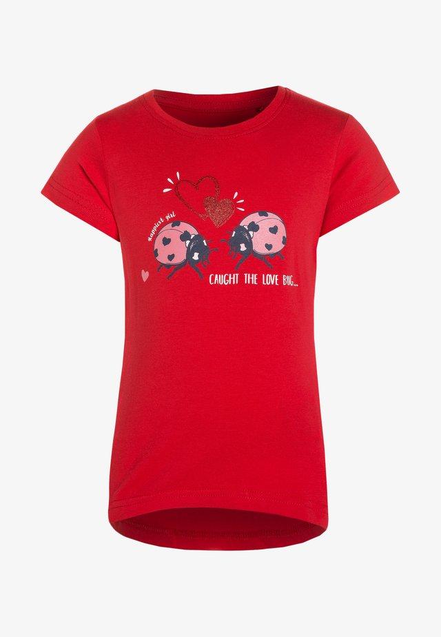 T-Shirt print - hochrot