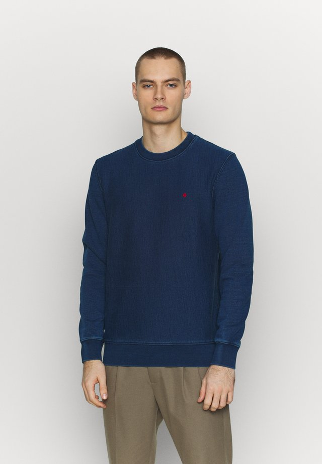 CREW NECK - Sweatshirt - dark blue denim