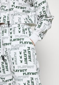 Missguided - PLAYBOY LOGO JOGGER - Tracksuit bottoms - grey marl - 5