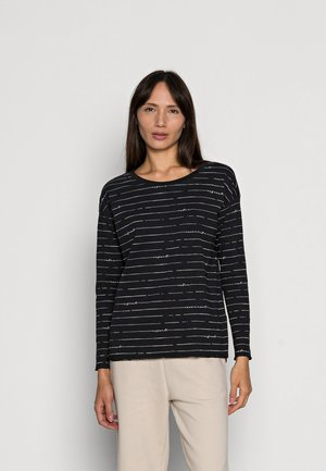 BOATY NECK  - Long sleeved top - black