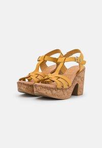 Musse & Cloud - KAROLA - Korkeakorkoiset sandaalit - yellow - 2