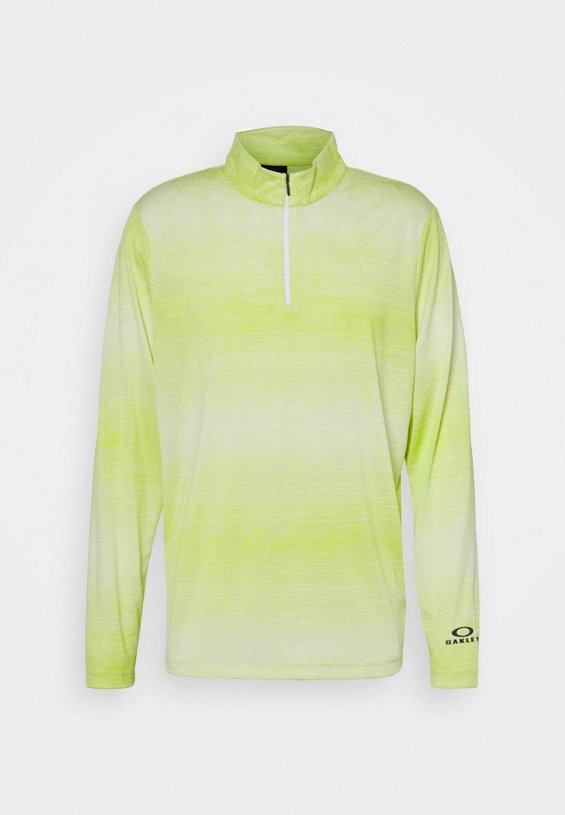 Oakley - CONTENDER HALF ZIP - Sweatshirt - yellow/white