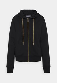Versace Jeans Couture - CARRY OVER ZIP UP HOODIE METAL CHAIN - Mikina s kapucí - black - 0
