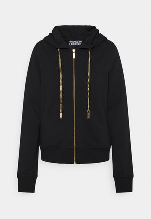 CARRY OVER ZIP UP HOODIE METAL CHAIN - Hoodie - black