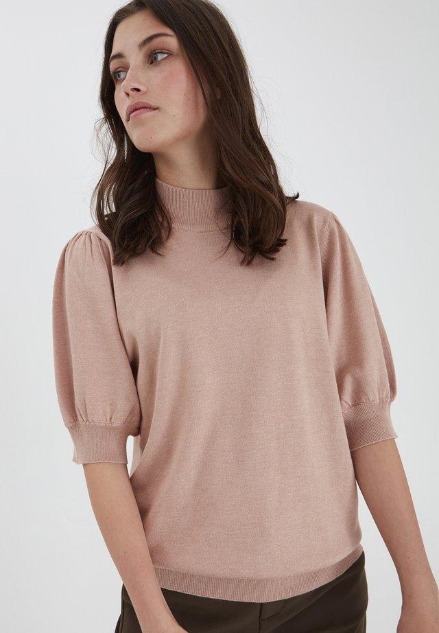 Sweter - mahogany rose melange