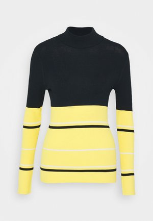 BERTHE STRIPED GOLF - Strikkegenser - butter yellow