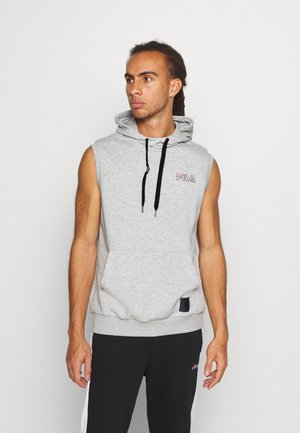 LUX SLEEVELESS HOODIE - Mikina s kapucí - light grey
