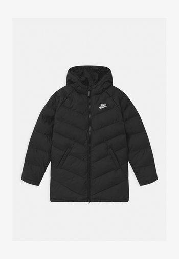 LONG UNISEX - Winter coat - black/white