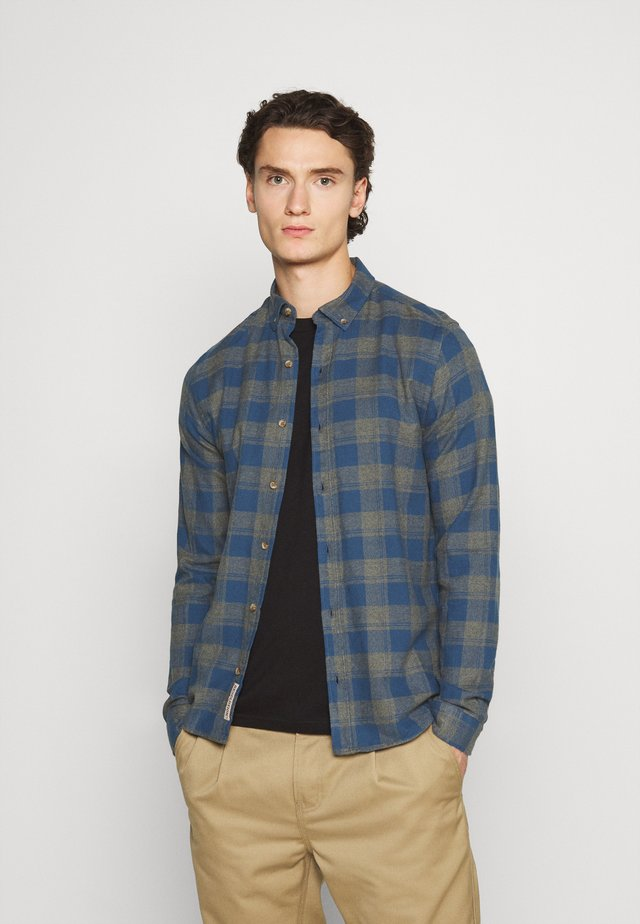 CHECKED - Shirt - grey