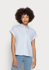 Tommy Hilfiger - STRIPE RELAXED SHIRT - Button-down blouse - blue - 0