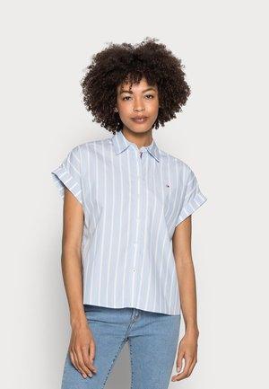 STRIPE RELAXED SHIRT - Košile - blue