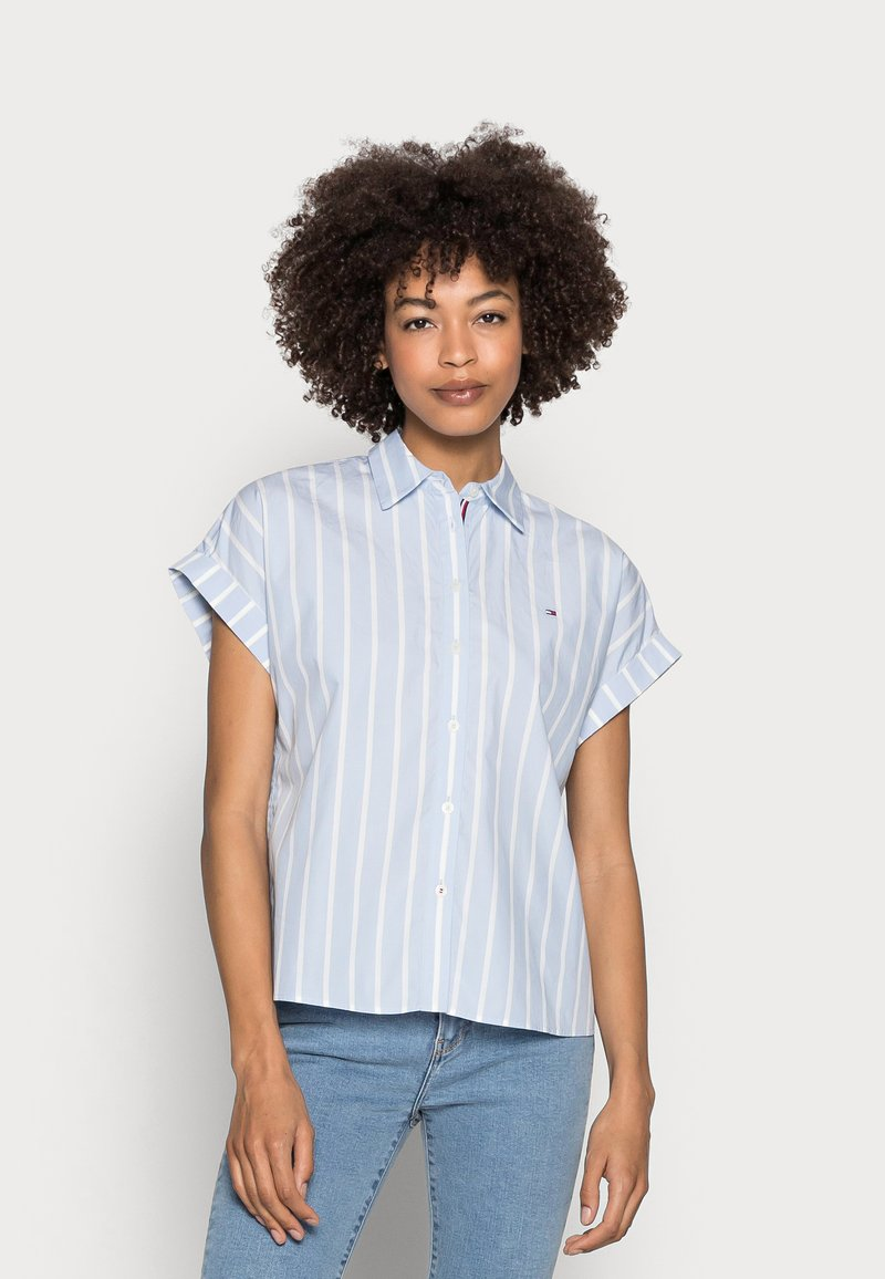 Tommy Hilfiger - STRIPE RELAXED SHIRT - Button-down blouse - blue