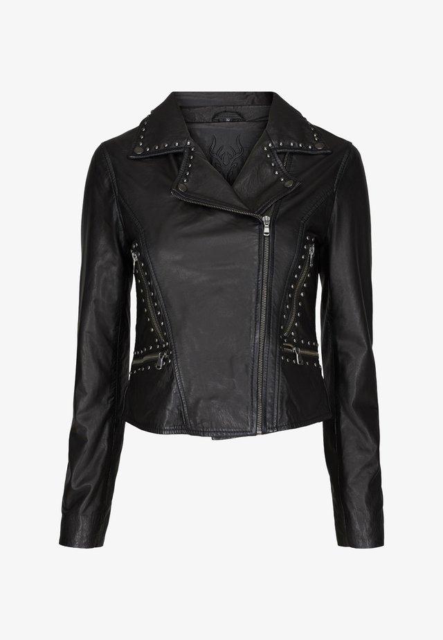 ANNA - Leren jas - black