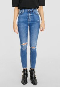 Stradivarius - Jeans Skinny Fit - light blue - 0