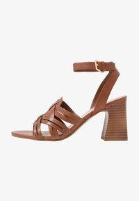 ALDO - HOLLANDSE - High heeled sandals - cognac - 1