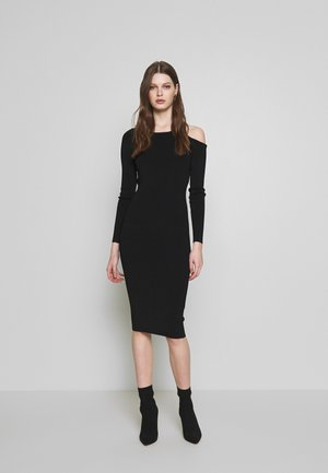 COLD SHOULDER BODYCON DRESS - Day dress - black