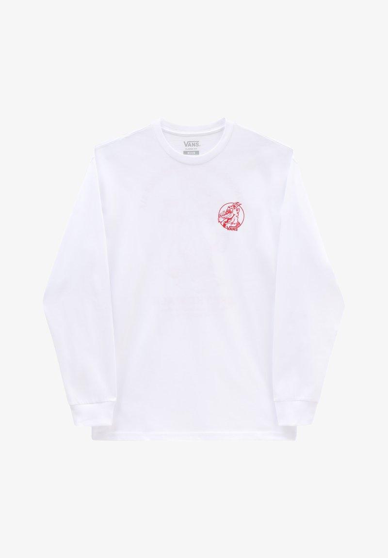 Vans - MN VANS ROASTED LS - Long sleeved top - white