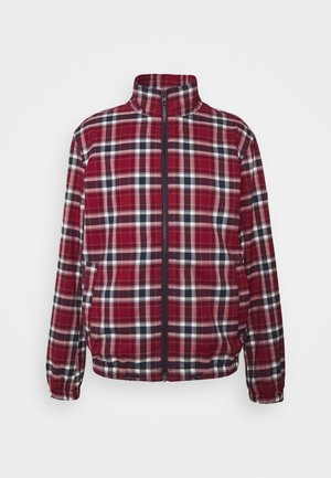 PLAID TRACK JACKET - Lett jakke - wine red/multi
