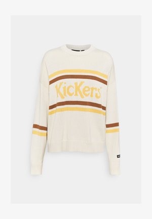 PANEL JUMPER - Jumper - cream