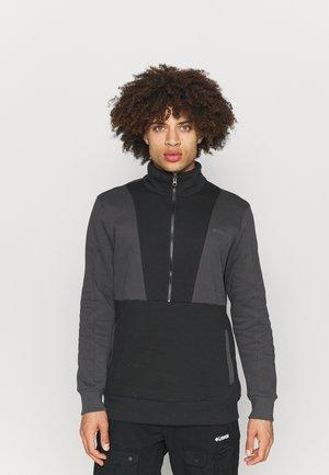 LODGE™ COLORBLOCK HALF ZIP - Sweatshirt - black/shark