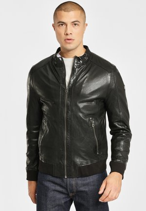 GBGRAHAN - Leather jacket - black