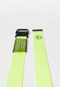 Bershka - Braided belt - neon yellow - 3