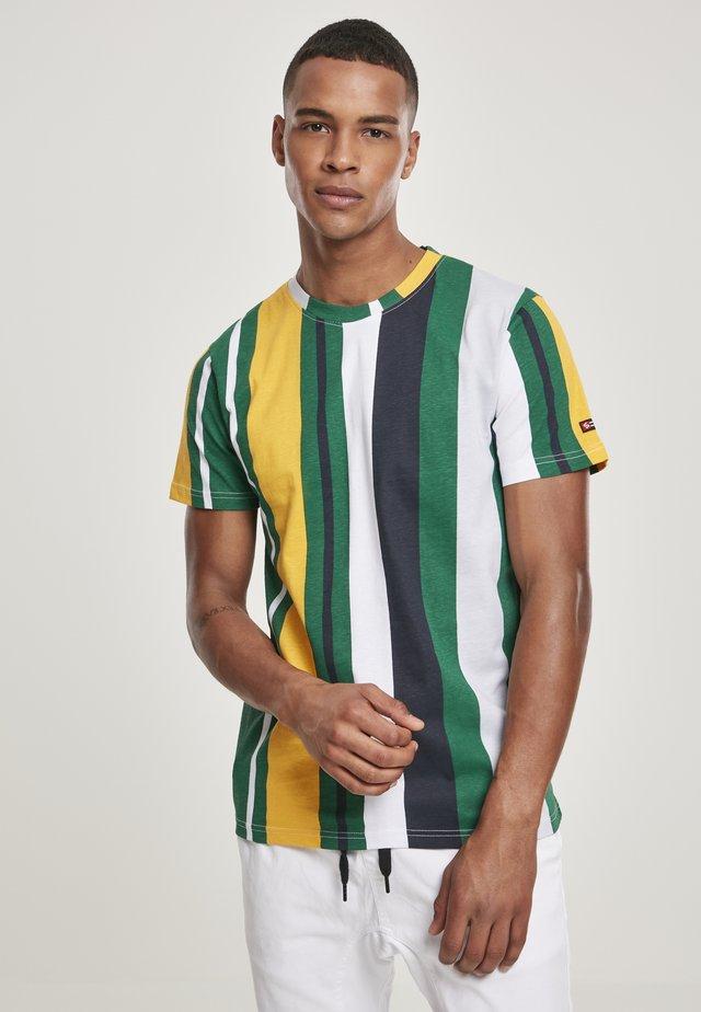 VERTICAL BLOCK - T-shirt print - green