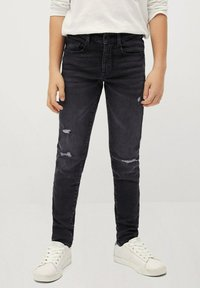 Mango - CALVIN - Jeans Slim Fit - black denim - 0