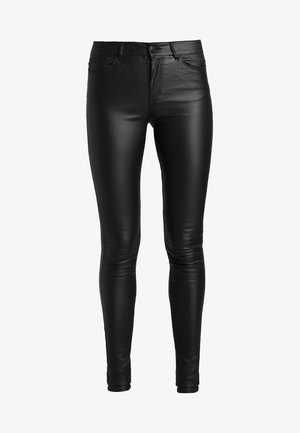 VMSEVEN SMOOTH COATED PANTS - Trousers - black