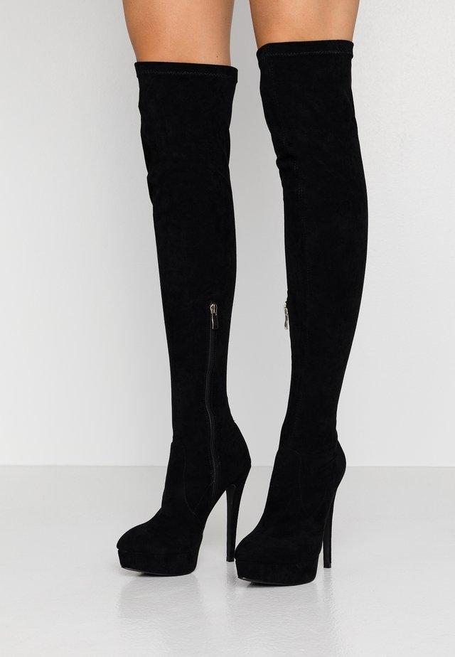 MORELLE - Boots med høye hæler - black