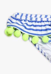 Sunuva - GIRLS POMPOM FRILL - Bikini - blue/white - 2