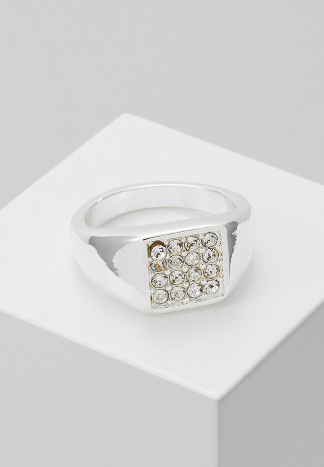 ROUNDED SQUARE FRONT - Anello - silver-coloured