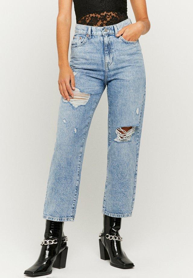 Jeans a sigaretta - bleached denim