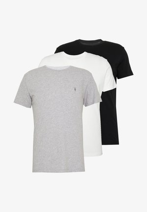 TONIC CREW 3 PACK - Basic T-shirt - optic/black/grey